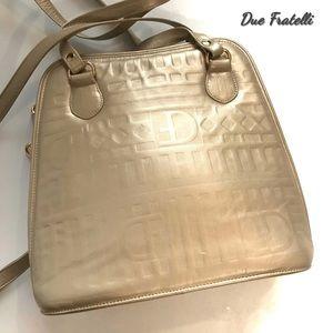 Due Fratelli Gold Leather Shoulder Bag